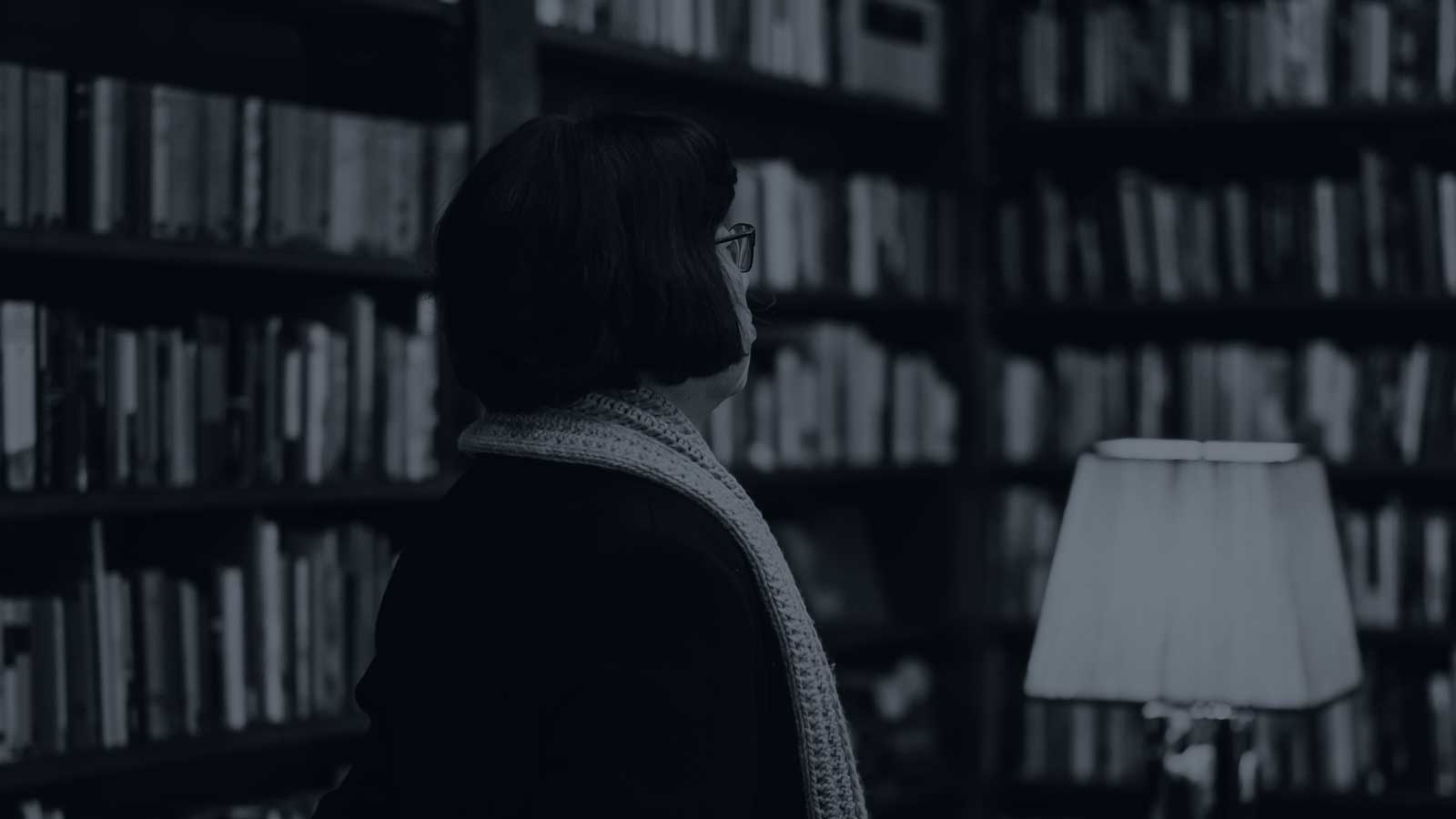 Thumbnail of a woman in a library
